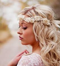 wedding photo - Vintage Lace Headpiece