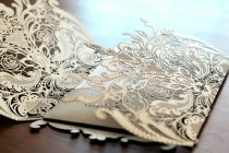 wedding photo - Delicate Embroidered Lace Wedding Invitations Cards