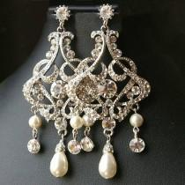 wedding photo - Teardrop Chandeliers Earrings