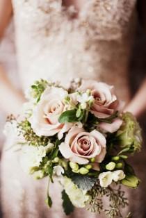 wedding photo - Mariée Bouquets de roses Bouquets de mariage ♥
