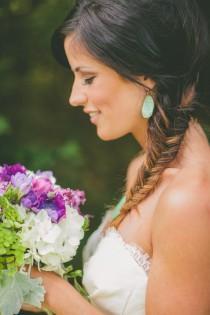 wedding photo - Side Fish Tail Braid Hairstyle ♥ Hair Inpspiration