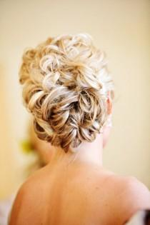 wedding photo -  Wedding Wavy Updo Hairstyle