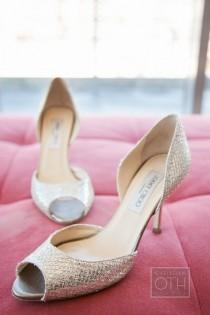 wedding photo - Silver Sparkly Wedding Shoes ♥ Jimmy Choo Bridal Shoes Collection