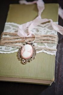 wedding photo - Vintage Подушка обручальное кольцо
