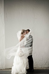 wedding photo -  Bride and Groom Behind Veil Photo ♥ Creative Wedding Photo Idea