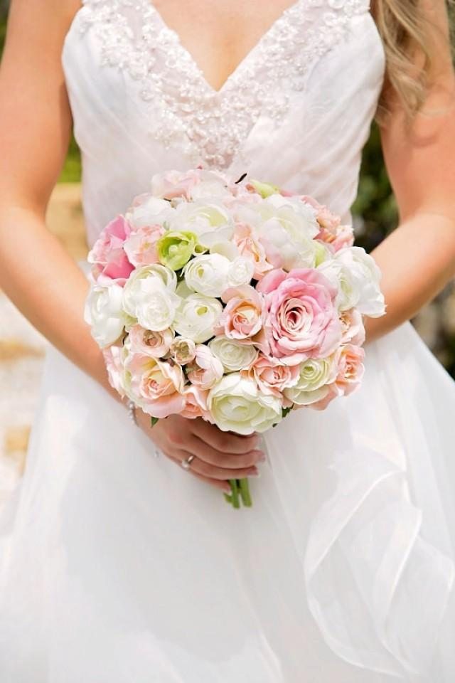 pink flower bouquets for weddings 2 wedding bouquet bouquet pink ivory and 6580