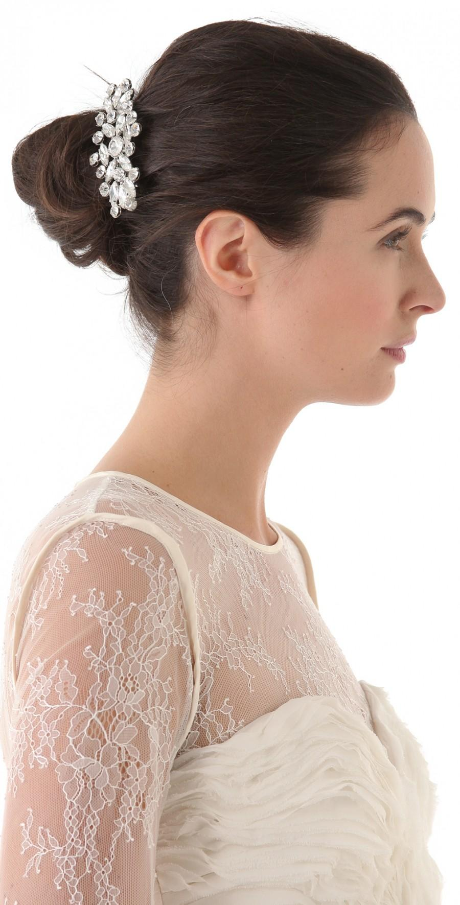 updo hair model - rhinestones wedding hair clip #1331927 - weddbook