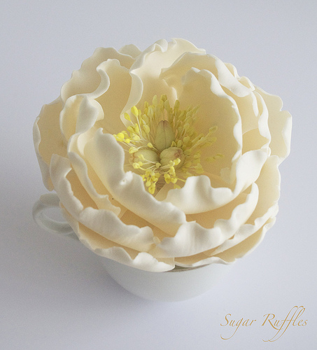how to make sugar flowers for wedding cakes food amp favor open peony sugar flower 1987634 weddbook 5001