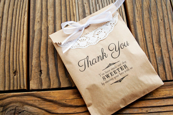 Favor Bags Wedding Kraft Thank You Message Add A Treat Or Use At Candy Bar 25 New